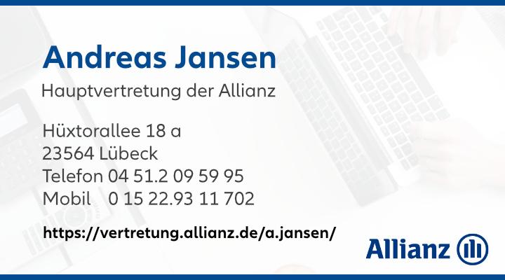 Anzeige Allianz Hauptvertretung - Andreas Jansen