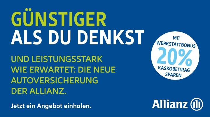 Anzeige Allianz KFZ-Versicherung - Andreas Jansen